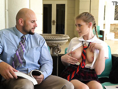 Melody Marks, young college slut, is monster dicked by teacher