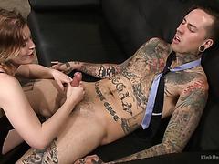 Ella Nova gives a detailed ass eating and handjob masterclass