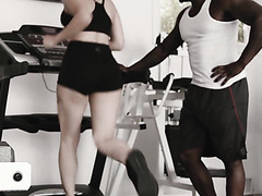 Valentina Nappi trains her holes with GYM instructor's BBC