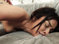 Exotic babe Maya Bijou reaches eight body-shaking orgasms