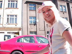 Hot tourist babe from Russia Lola Taylor enjoys pickup fuck with hunk