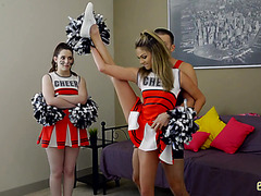 Cheerleader stepsis Athena Faris gets taboo creampie from bro