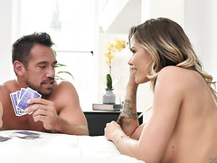 Jessa Rhodes plays strip poker and enjoys romantic sex