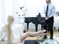 Natasha James, mature Russian cheating wife, seduces young man for anal