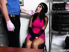 Alina Belle, thicc Latina shoplifter, pounded by mall cop J Mac