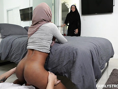 Hijabi stepsis Milu Blaze commits a sin with white stepbro