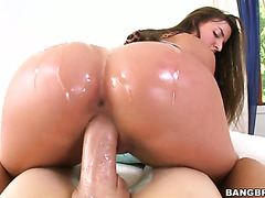 Big booty slut Amirah Adara fucking a huge dick in POV