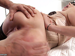 Exquisite Ani Black Fox enjoys mouth fuck and anal banging