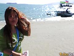 Amateur chubby Filipina girl Karen fucks with white tourist