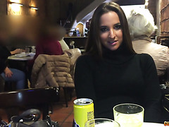 Amirah Adara dines with Nacho and fucks in public restroom