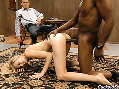 Bitchy Alexa Grace wants her hubby watching her getting blacked
