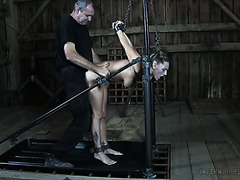 Bandaged sex slave whore Kali Kane gets fucked by her ruthless master