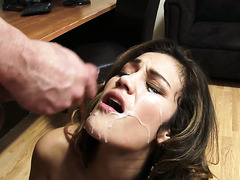 Secretary Devyn Heart gets caught watching porn and fucked by a colleague