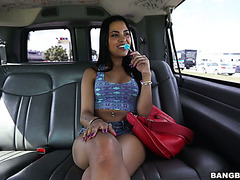 Colombian hot stuff Nikky Kay gets heavily paid for fucking in bangbus