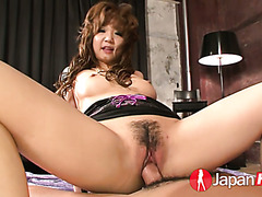 Filthy Mizuki Ishikawa enjoys a creampie after fierce fucking