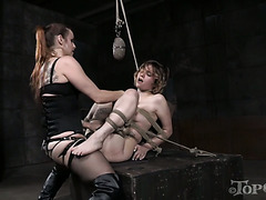 Bella Rossi shows no mercy for Mercy West during tough BDSM session