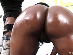 Destiny Dymes gets her phat 41 booty drilled by mandingo