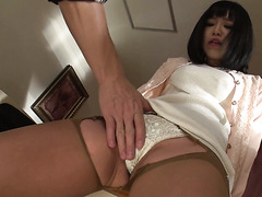 Nozomi Yui chooses dildos and gets toyed in both holes