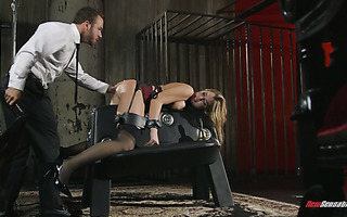A master spanks and then fucks his personal bitch Blair Williams