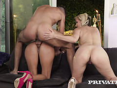 Mature German sluts Julia Pink and Lana Vegas got banged by British guy