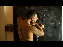 Jimena Lago gets fucked by a handsome macho after playing a hangman