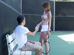 Fresh and sexy Cece Capella fucks like a hoe after playing tennis